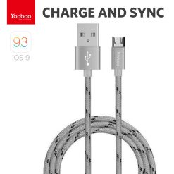 Yoobao 1 Meter Micro USB Charging Sync Cable - Gray