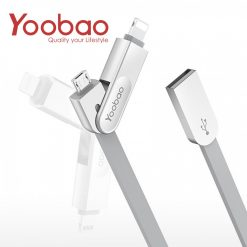 Yoobao Multifunction Micro USB And Lightning Sync Cable - Gray