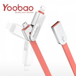 Yoobao Multifunction Micro USB And Lightning Sync Cable - Red