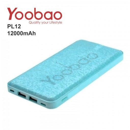 Yoobao PL12 12000 mah Lithium Polymer Powerbank - Blue