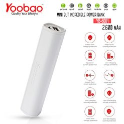 Yoobao Power Bank 2600mAh YB-6001 - White