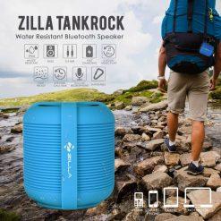 Zilla Tankrock Water Resistant Bluetooth Speaker - Blue