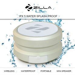 Zilla IPX 5 Water Resistant Metal Finish Hi Bass Portable Bluetooth Speaker - Lemon Yellow