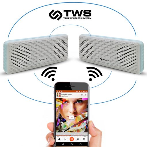 Zilla Wireless Pairable Stereo Bluetooth Speaker With TWS And Remote Shutter - Blue