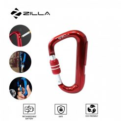 Zilla Carabiner Rechargeable Lighter - Red