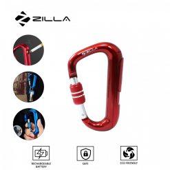 Zilla Carabiner Rechargeable Lighter - Red