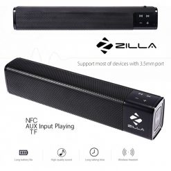 Zilla 1000 20 Watt High Bass Multifunction Bluetooth Speaker - Black