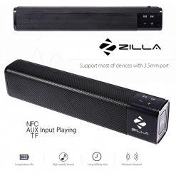 Zilla 1000 20 Watt High Bass Multifunction Bluetooth Speaker - Black