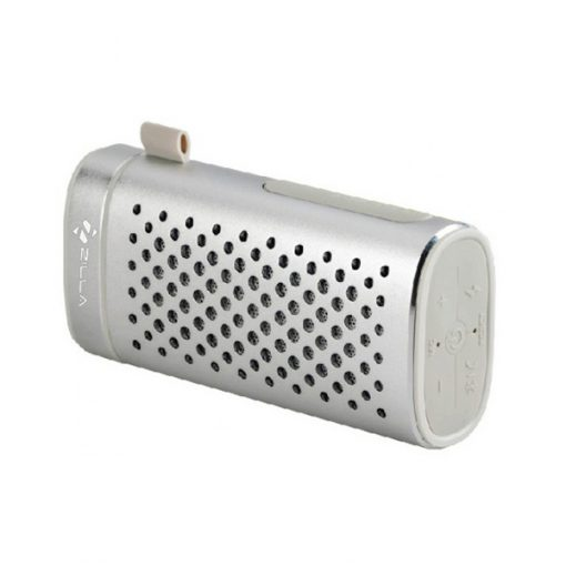 Zilla Portable Bluetooth Speaker With 4000 mAh Power Bank - Silver
