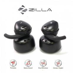 Zilla Twin Wireless Stereo Headset - Black