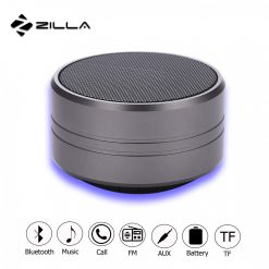 Zilla Z10  Metal Finish Multifunction Bluetooth Speaker - Grey