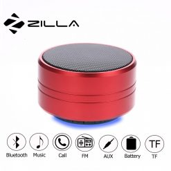 Zilla Z10  Metal Finish Multifunction Bluetooth Speaker - Red