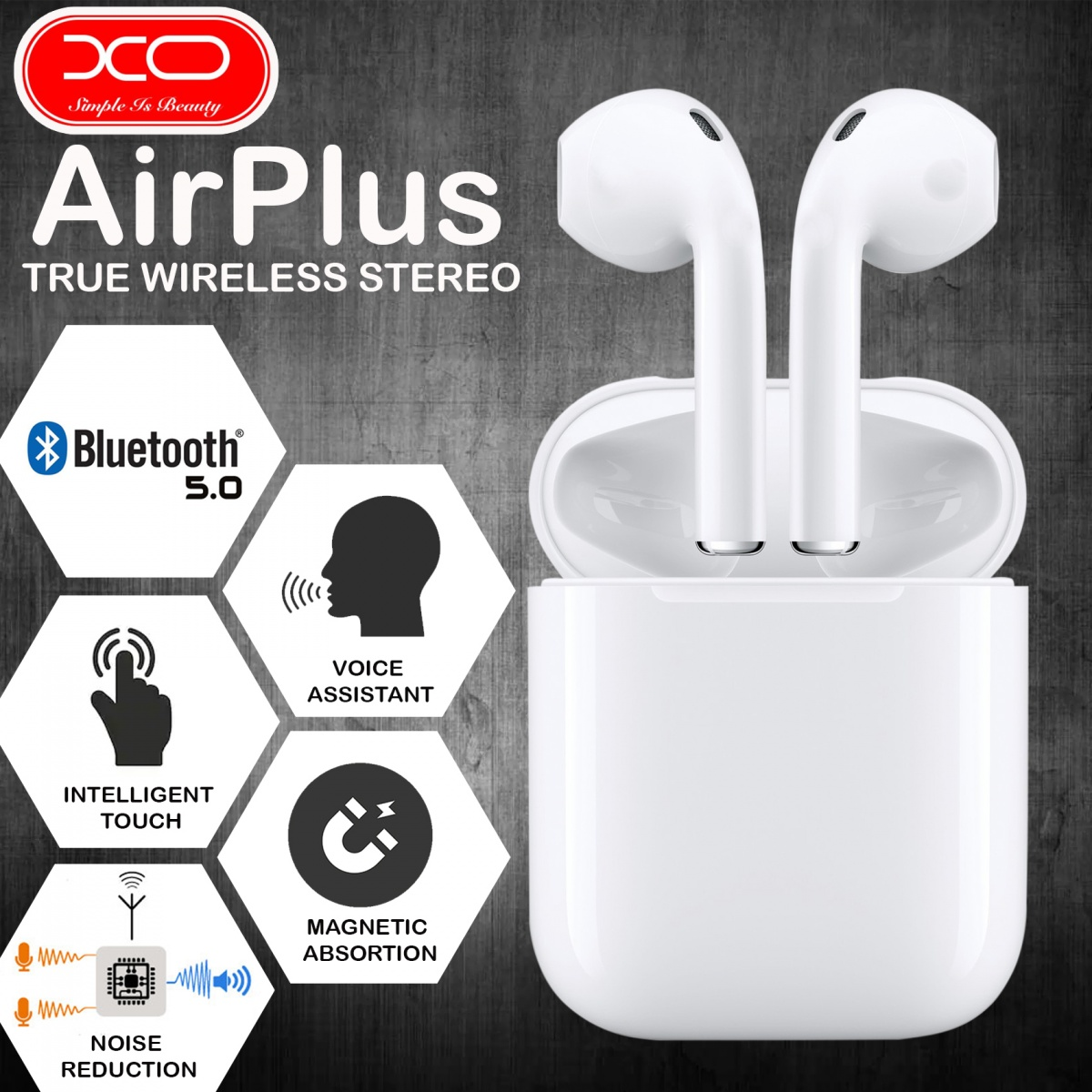 XO F30 Airplus TWS Wireless Headset - White