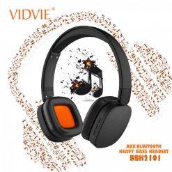 Vidvie BBH2101 Heavy Bass Smart Wireless Bluetooth Headset - Black