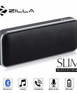 Zilla BT-202 Card Shaped Leather Finish Bluetooth Speaker 10W Super Bass - Black