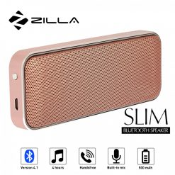Zilla BT-202 Card Shaped Leather Finish Bluetooth Speaker 10W Super Bass - Gold