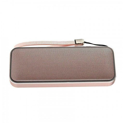 Zilla BT-202 Card Shaped Leather Finish Bluetooth Speaker 10W Super Bass - Gold