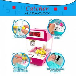 UFO Catcher With Alarm Clock - Pink