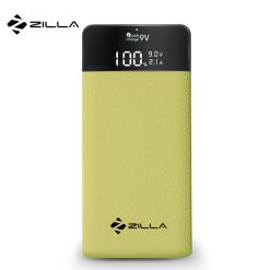 Zilla Leather Finish 10,000 mah Powerbank With Detailed LCD Display - Green