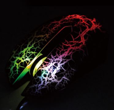 USB Wired Optical Mouse with Hybrid 7 color LED