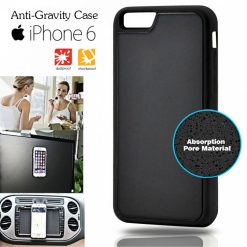 Stick Anywhere Micro Suction Anti Gravity Case  For Iphone 6 - Black