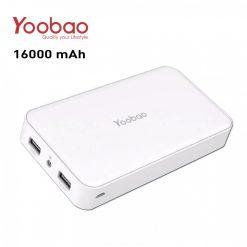 Yoobao Dual USB Port Powerbank 16000mAh - White