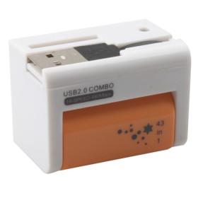 USB 2.0 COMBO 43 in 1 CARD READER - Orange