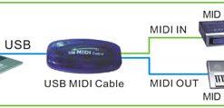USB MIDI Cable - Black