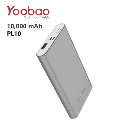 Yoobao PL10 10000 mah Polymer Power Bank - Gray