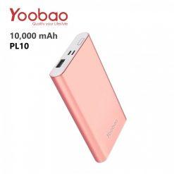 Yoobao PL10 10000 mAh Polymer Power Bank - Rose Gold