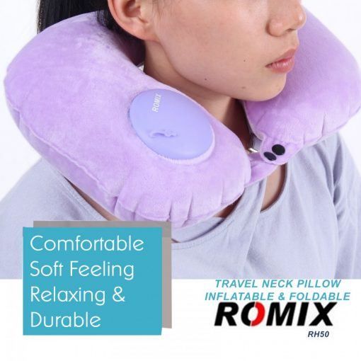 Romix RH50 Portable Fury Travel Neck Pillow - Purple