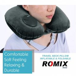 Romix RH50 Portable Travel Neck Pillow - Dark Green