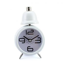 Single Bell Korean Alarm Clock - White