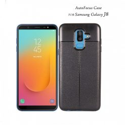 Samsung Galaxy J8 Autofocus Silicone Back Cover Case - Black