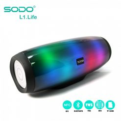 SODO L1 LIFE TWS NFC Multifunction 5 in 1 Speaker With Light Effects - Black