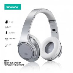 SODO MH1 5 In 1 Bluetooth Headset Speaker Convertible With FM Mp3 Player And  Line In  - Silver