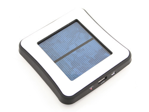 Window Attached Solar Charger 1800mAh - Black