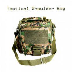 Utility Outdoor Shoulder Cross Body Bag Camouflage - Brown