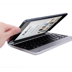 Ultra-Thin Wireless Bluetooth  Keyboard  For Ipad mini (Silver)