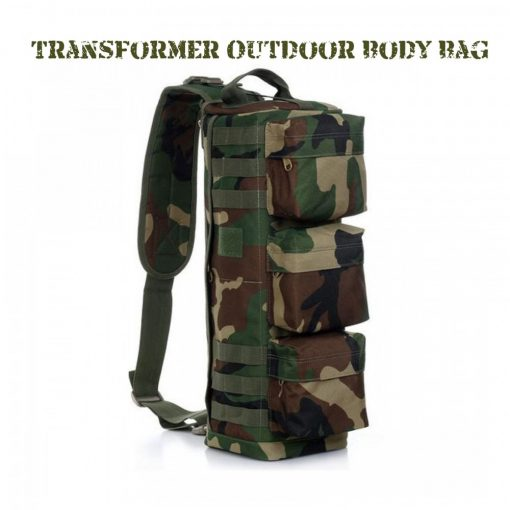 Transformer Outdoor Military Tactical Body Bag - Army Camouflage