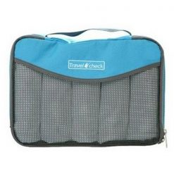 Travel Check Luggage Organizer Bag – Blue