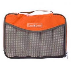 Travel Check Luggage Organizer Bag – Orange