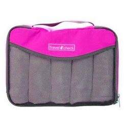 Travel Check Luggage Organizer Bag – Pink
