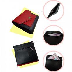 Short Foldable Pocket Wallet for Women - Red