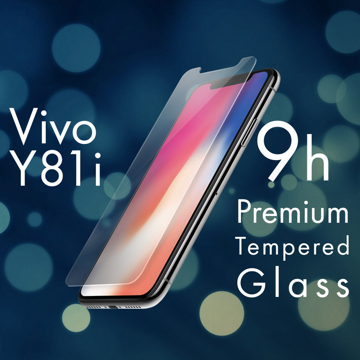 FOR SKU Vivo Y81i Full Screen Clear Tempered Glass