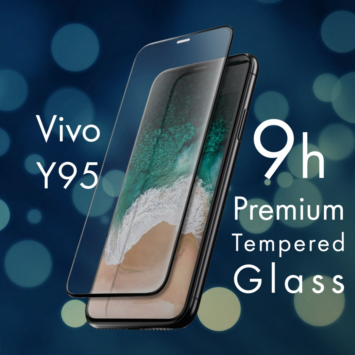 FOR SKU Vivo Y95 Full Screen Tempered Glass With Black Lining