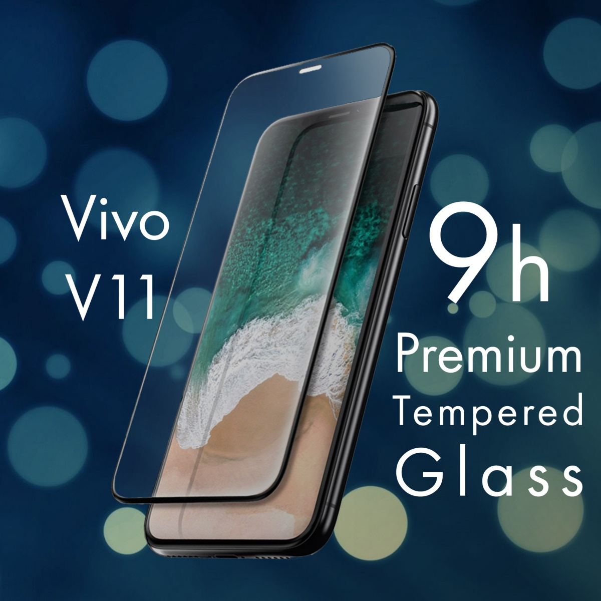 FOR SKU Vivo V11 Full Screen Tempered Glass With Black Lining