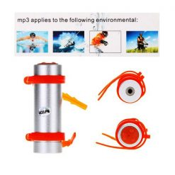 Waterproof MP3 Player with FM And 4GB Memory For Swimming - Silver