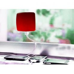 Window Attached Solar Charger 1800mAh - Red