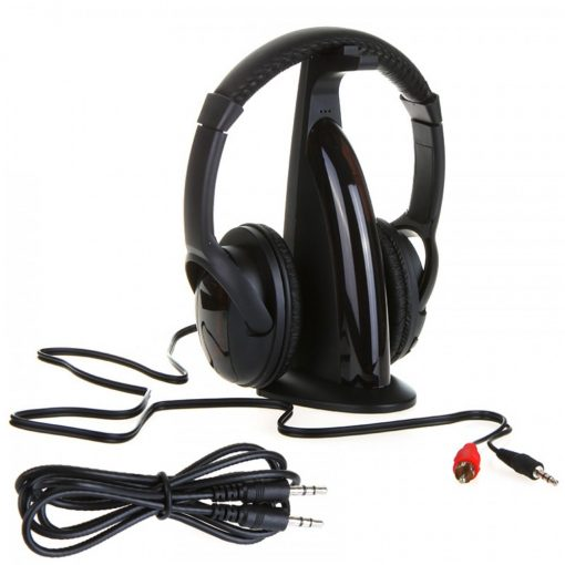 Wireless Headphone 5 In 1 Multifunction - Black